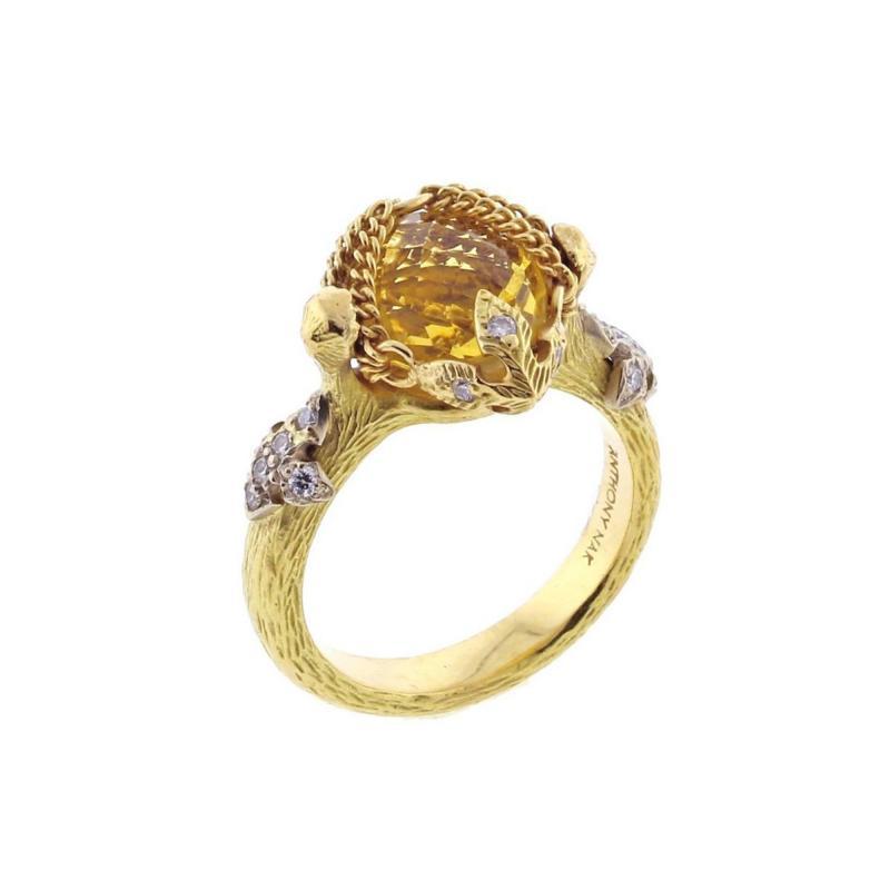 Anthony Nak Anthony Nak Citrine and Diamond Ring