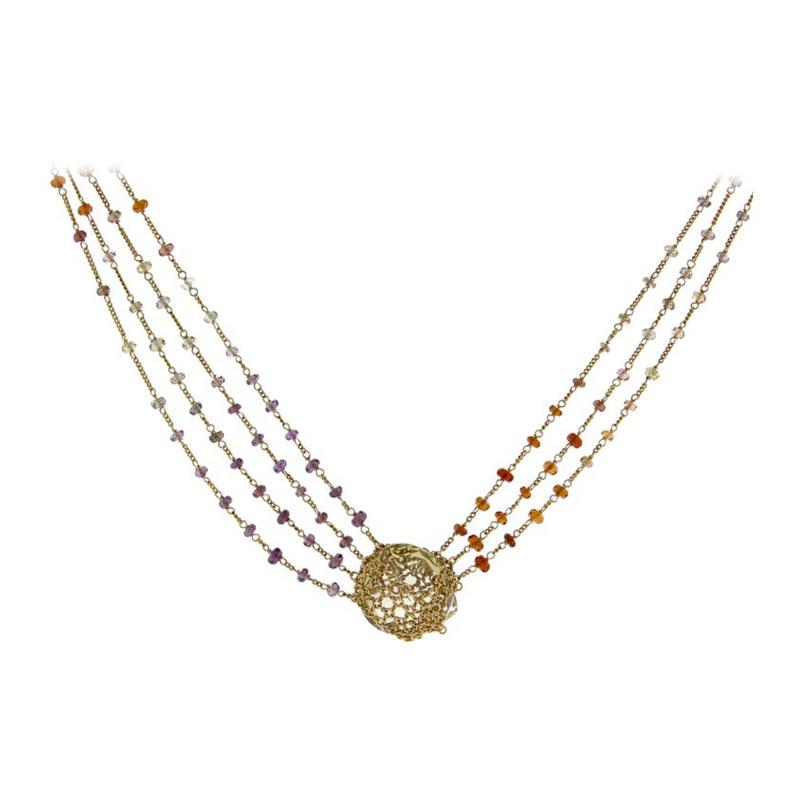 Anthony Nak Anthony Nak Lemon Citrine Multi Chain Necklace