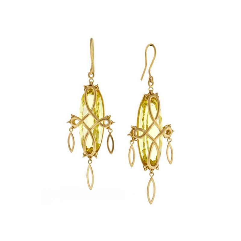 Anthony Nak Anthony Nak Prasiolite Gold Earrings