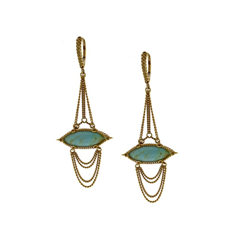 Anthony Nak Anthony Nak Turquoise Drop Earrings