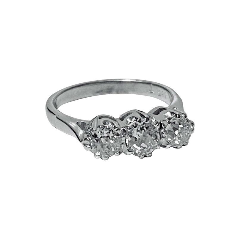 Antique 14 Karat Diamond Ring circa 1930