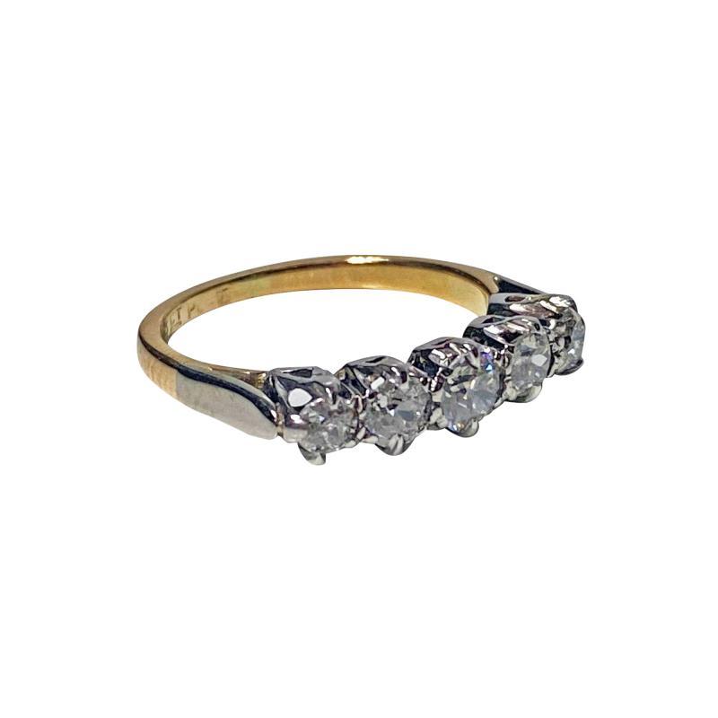 Antique 15 Karat Platinum Diamond Ring circa 1920