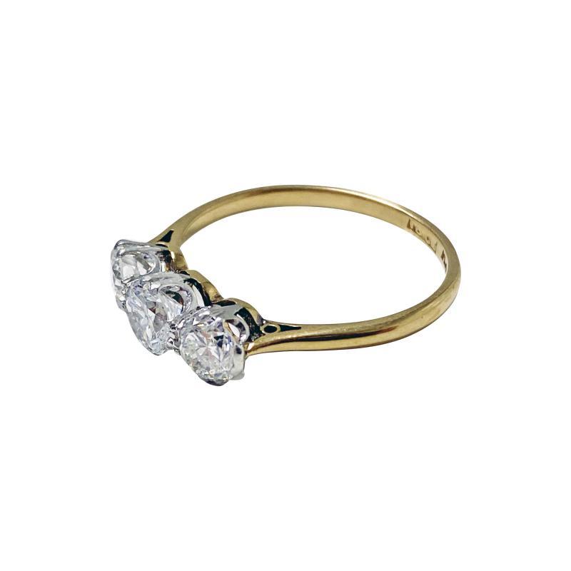 Antique 18K Platinum Diamond Ring C 1920
