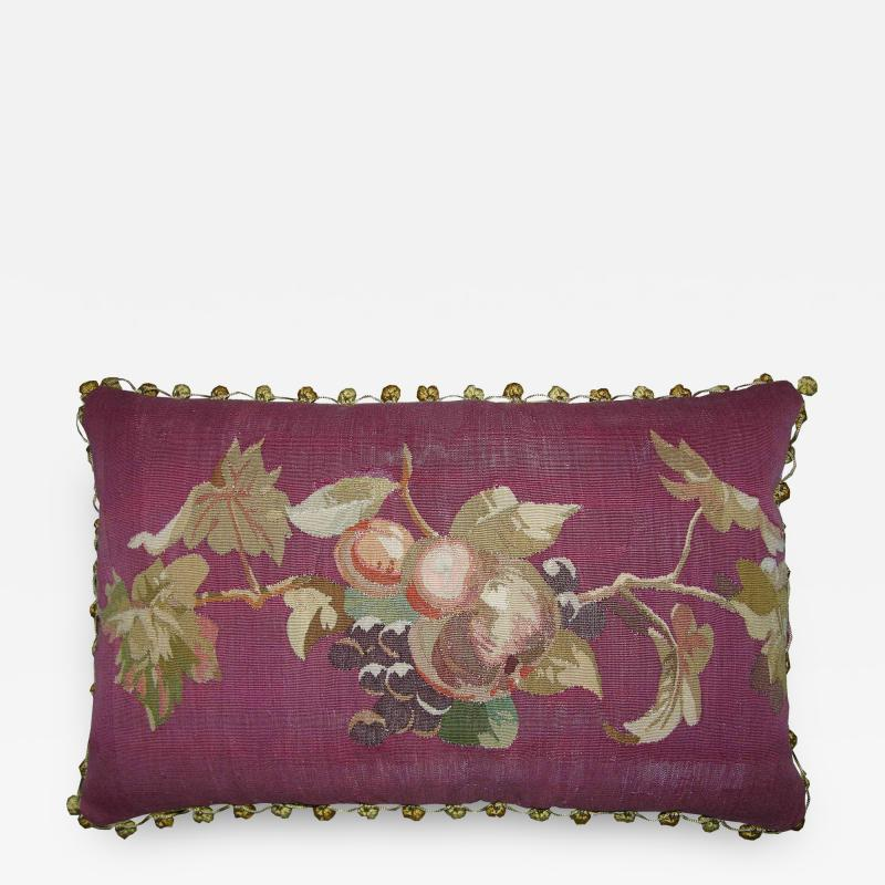 Antique 18th Century French Tapestry Pillow 23 x 14