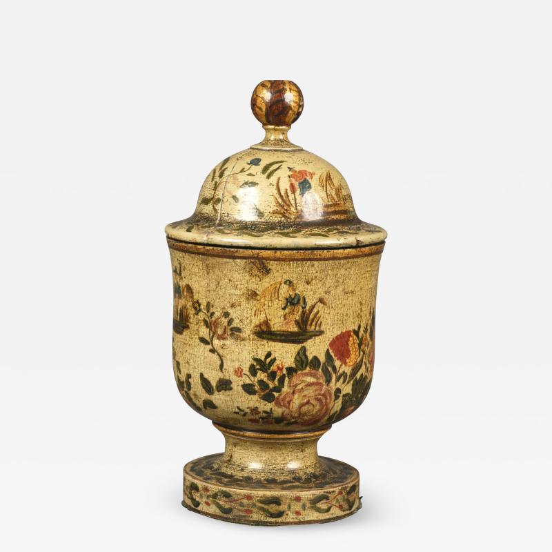 Antique 18th Century Venetian Lacquer Povera Container