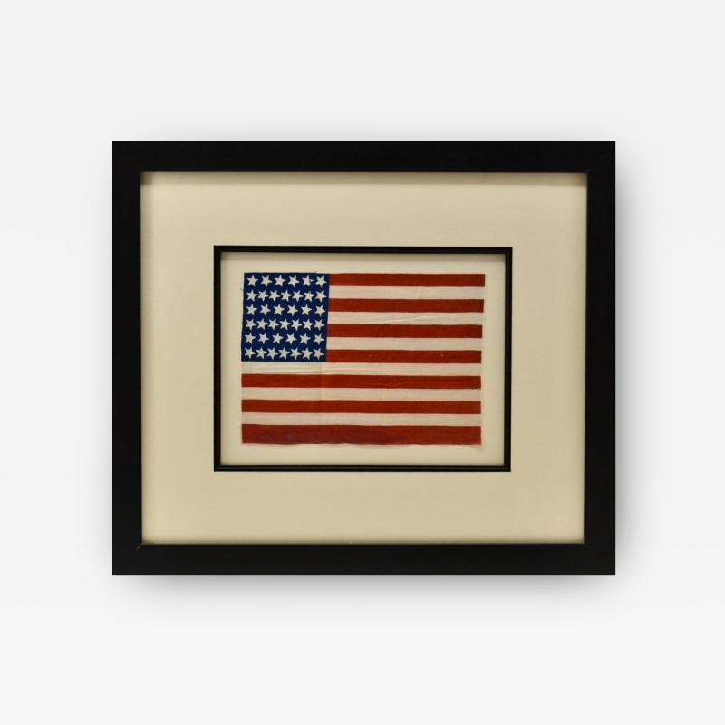 Antique 39 Star American Flag Circa 1889