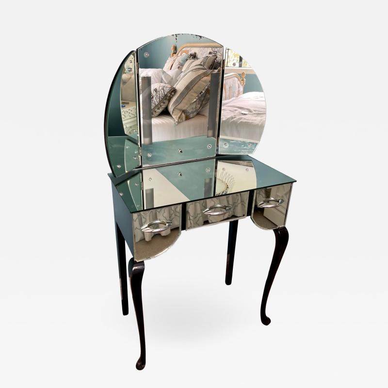 Antique Art Deco Mirrored Vanity Table