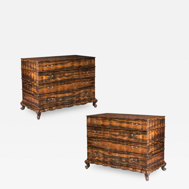 Antique Asian Important Pair of Commodes Chests of Majestic Proportions