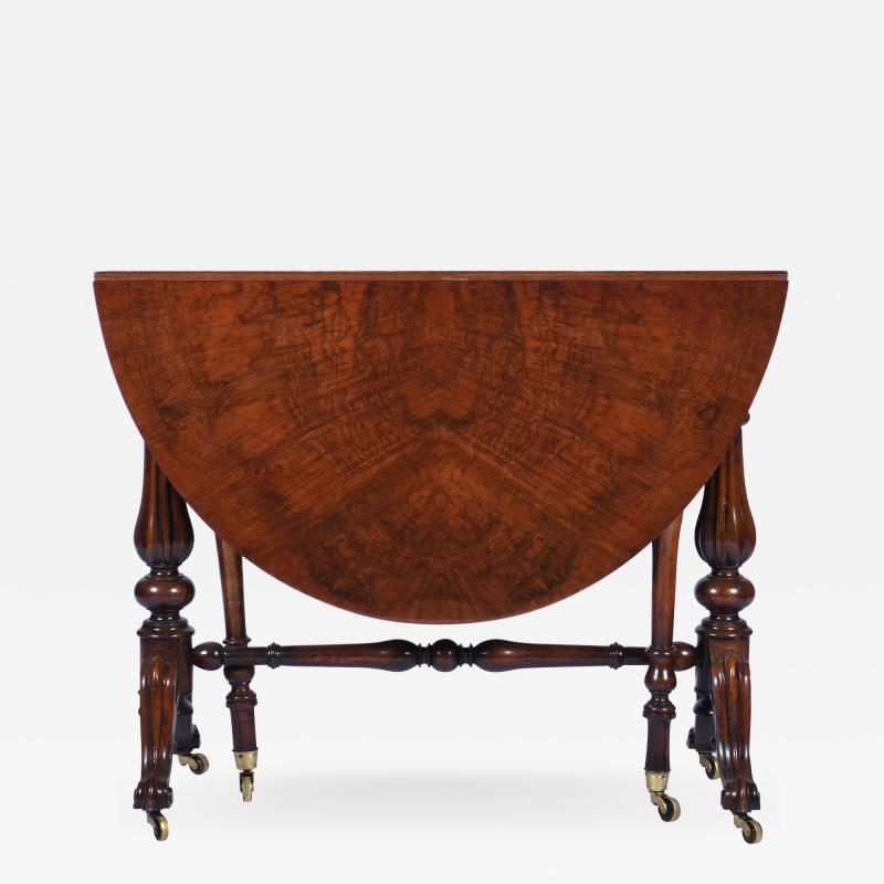 Antique Burr Walnut Sutherland Table England 1870 s