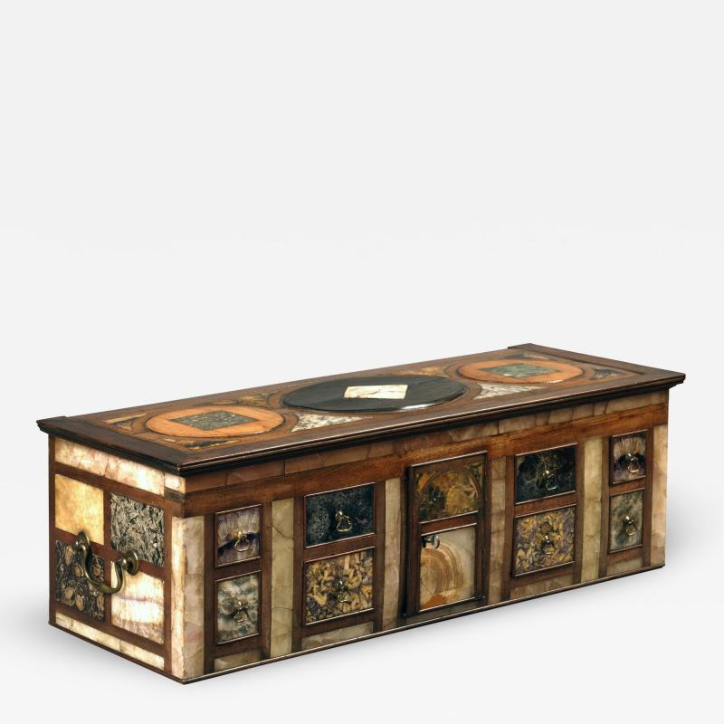 Antique Cartonier Chest Covered with an exotic display of Specimen Marbles