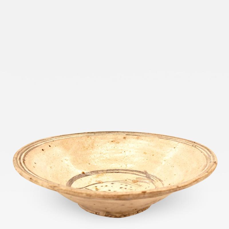 Antique Ceramic Fish Plate Sukhothai Period