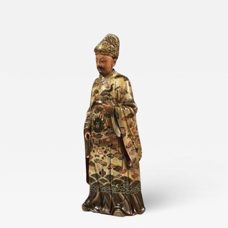 Antique Chinese 18th Century Terracotta Nodding Figure