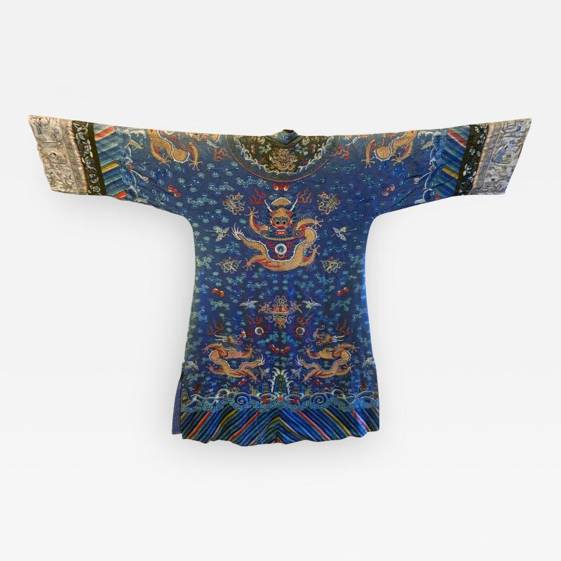 Antique Chinese Imperial Dragon Robe Qing Dynasty