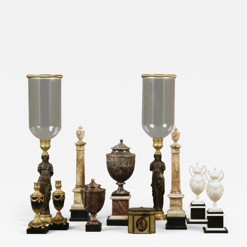 Antique Collection of 18th and 19th Century Marble and Bronze Objects