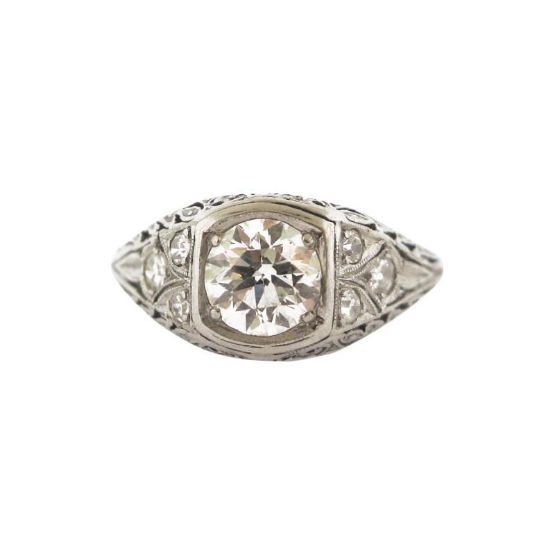 Antique Diamond and Filigree Ring