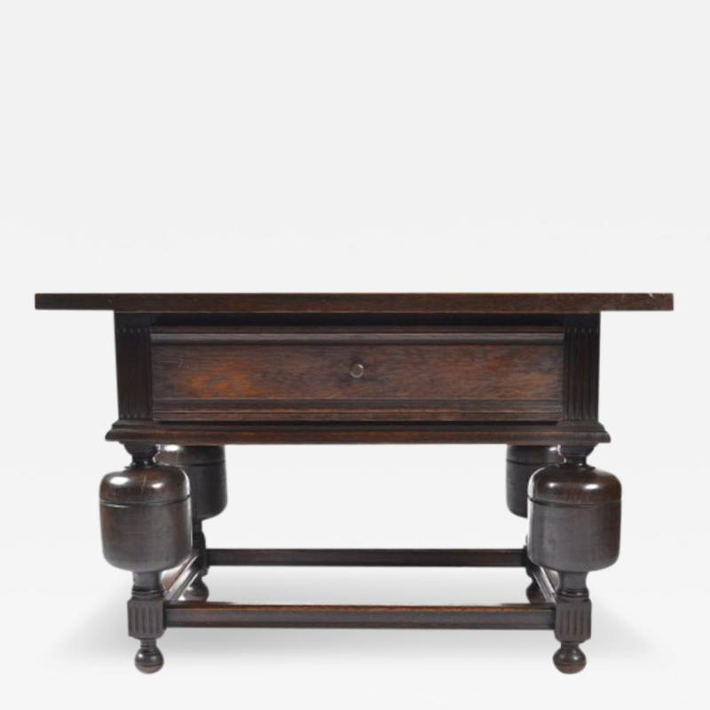 Antique Dutch Chestnut Tavern Table 19th Century
