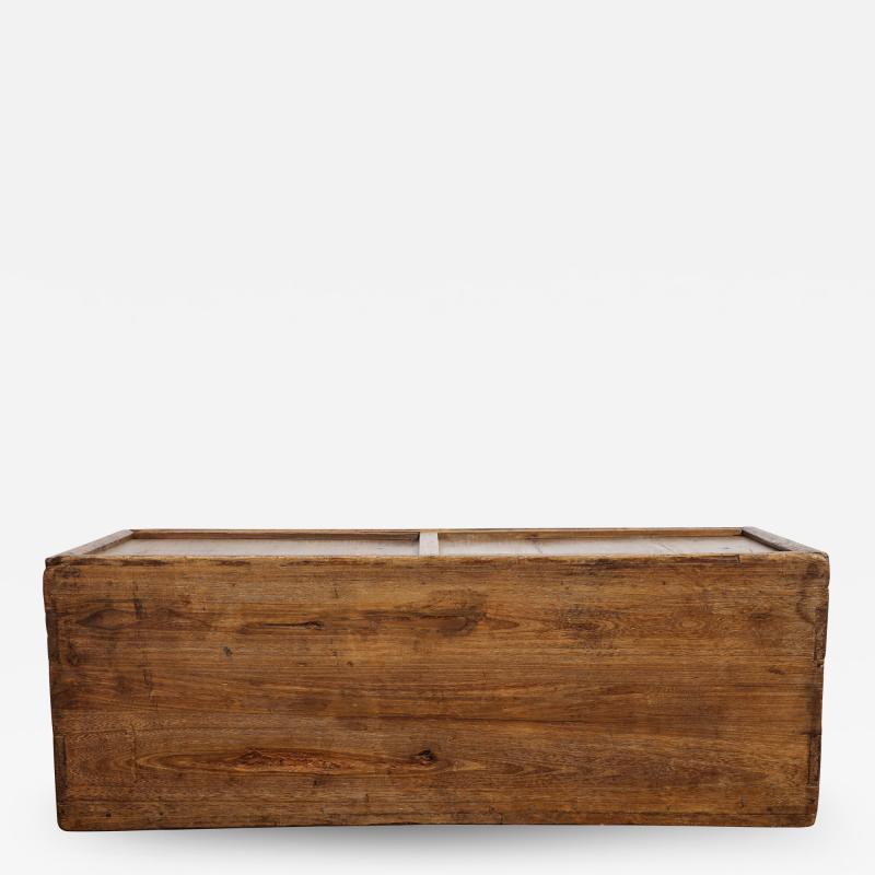 Antique Elm Storage Box