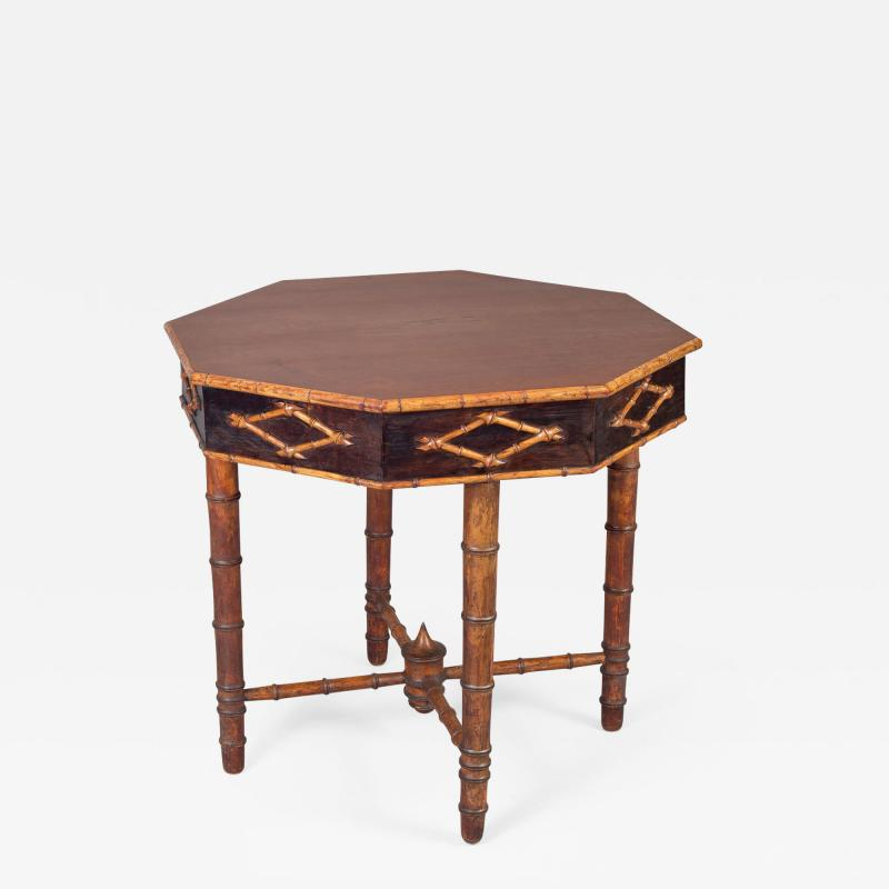 Antique Faux Bamboo Center Table