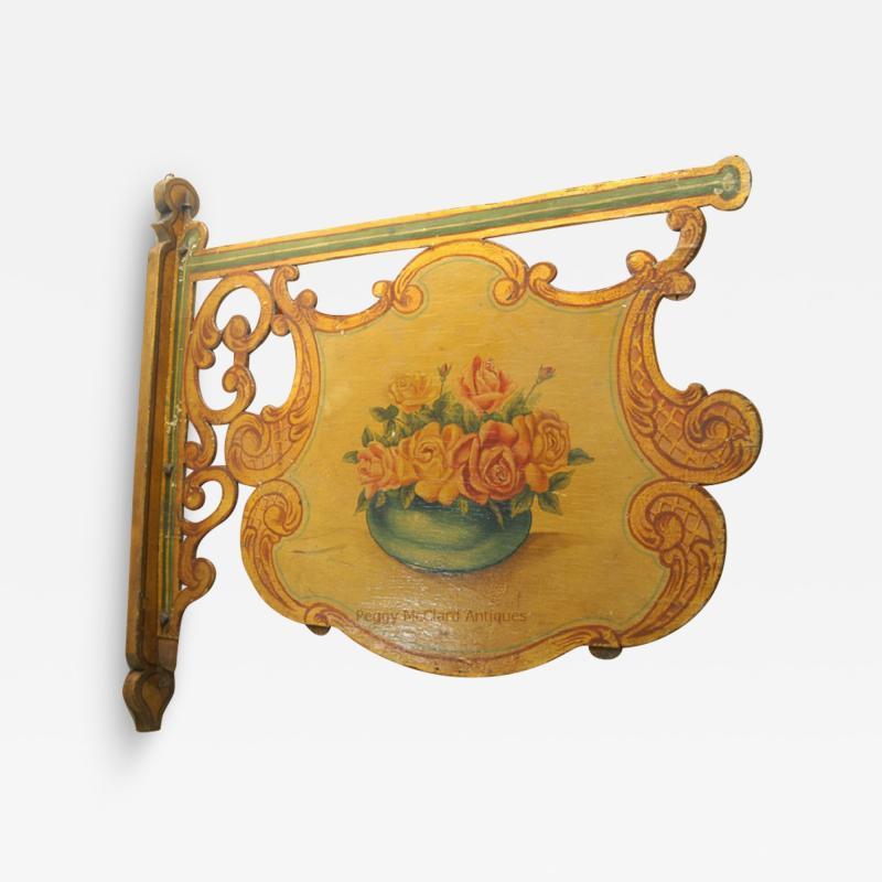 Antique Folk Art Florist Sign