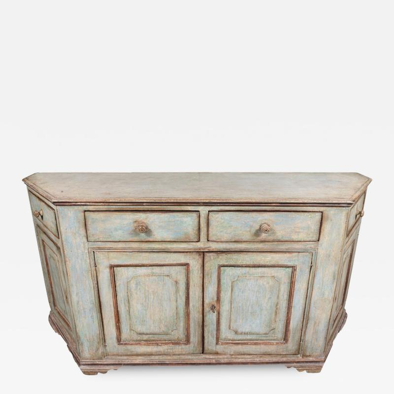 Antique Four Door Painted Tuscan Buffet