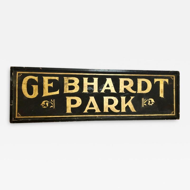 Antique Gold Leaf Sign Gebhardt Park