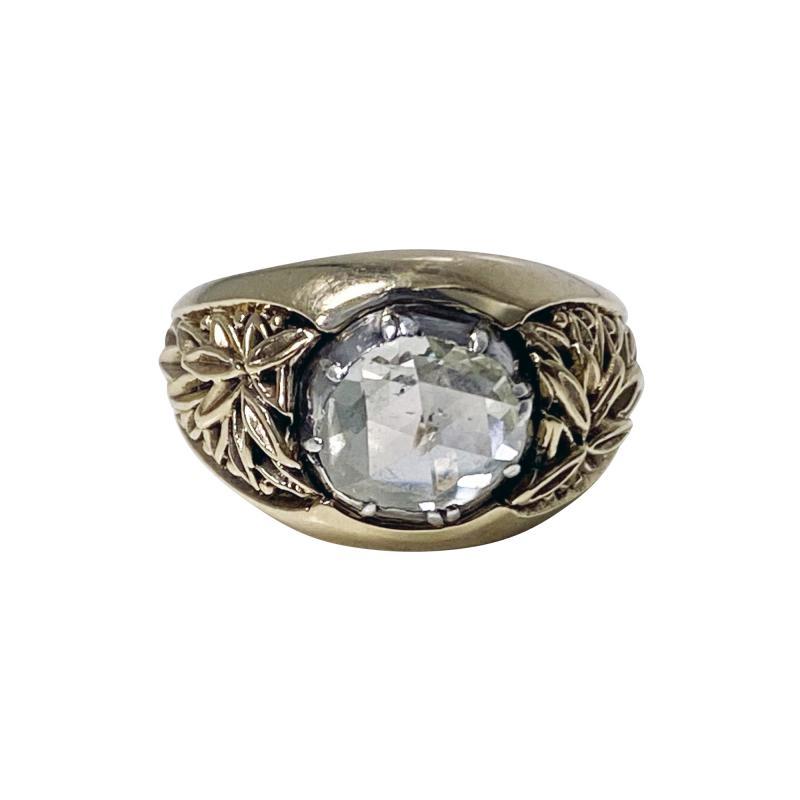 Antique Gold and Rose cut Diamond Ring C 1930