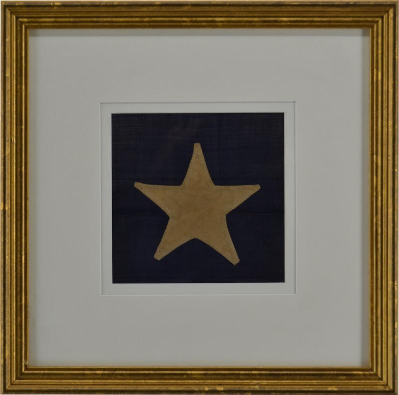 Antique Hand Sewn Star From Civil War 36 Star Flag
