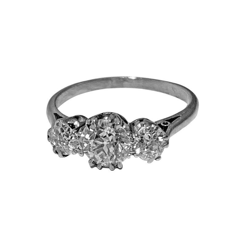 Antique Platinum Diamond Ring circa 1920