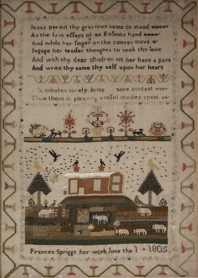 Antique Sampler 1805 by Frances Spriggs