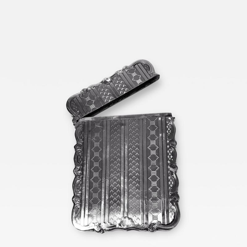 Antique Sterling Silver Card Case Birmingham 1866 Hilliard and Thomason
