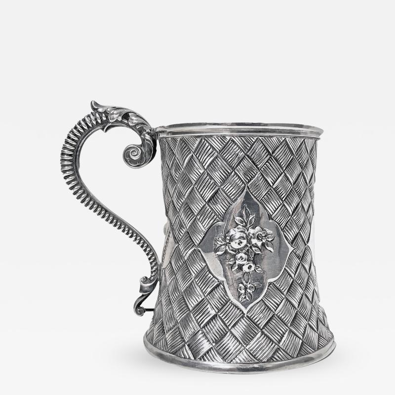 Antique Victorian Silver Mug London 1863 by Robert Harper