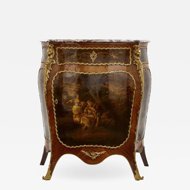 Antique kingwood gilt bronze and vernis Martin side cabinet