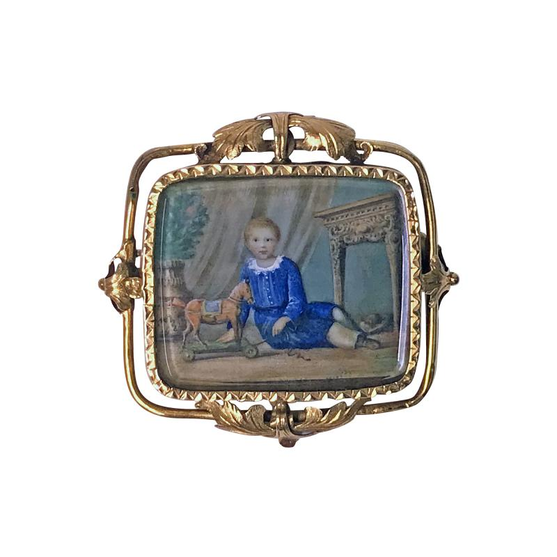 Anton Graff Swiss Gold Portrait Miniature C 1800 attributed Anton Graff