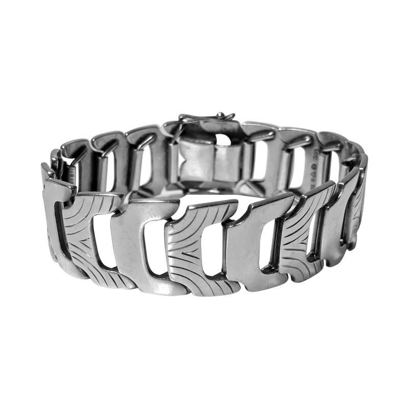 Anton Michelsen 1950s Scandinavian Silver Bracelet Anton Michelsen