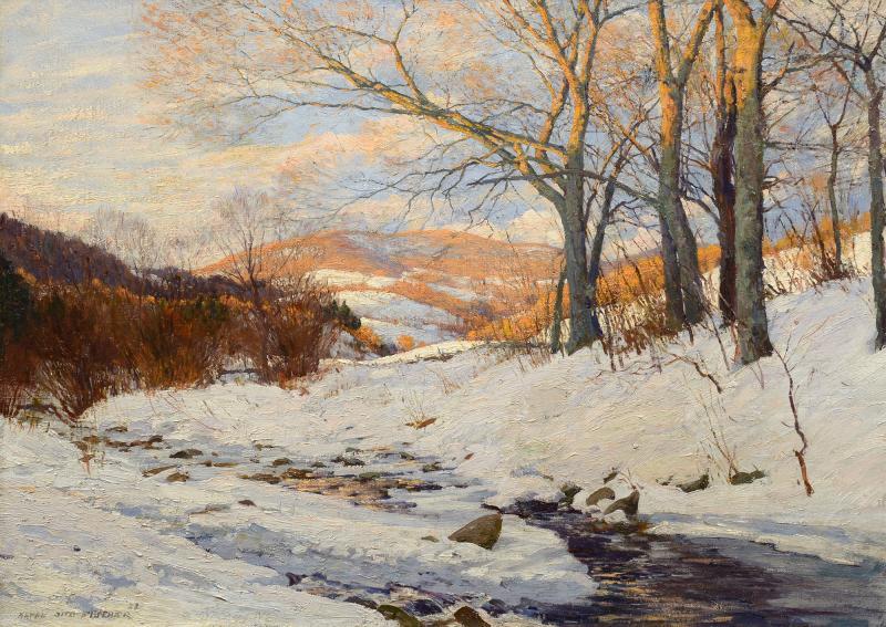 Anton Otto Fischer Winter Afternoon