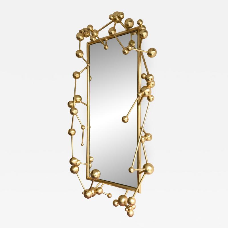 Antonio Cagianelli Contemporary Mirror Atomic Gold Leaf by Antonio Cagianelli Italy