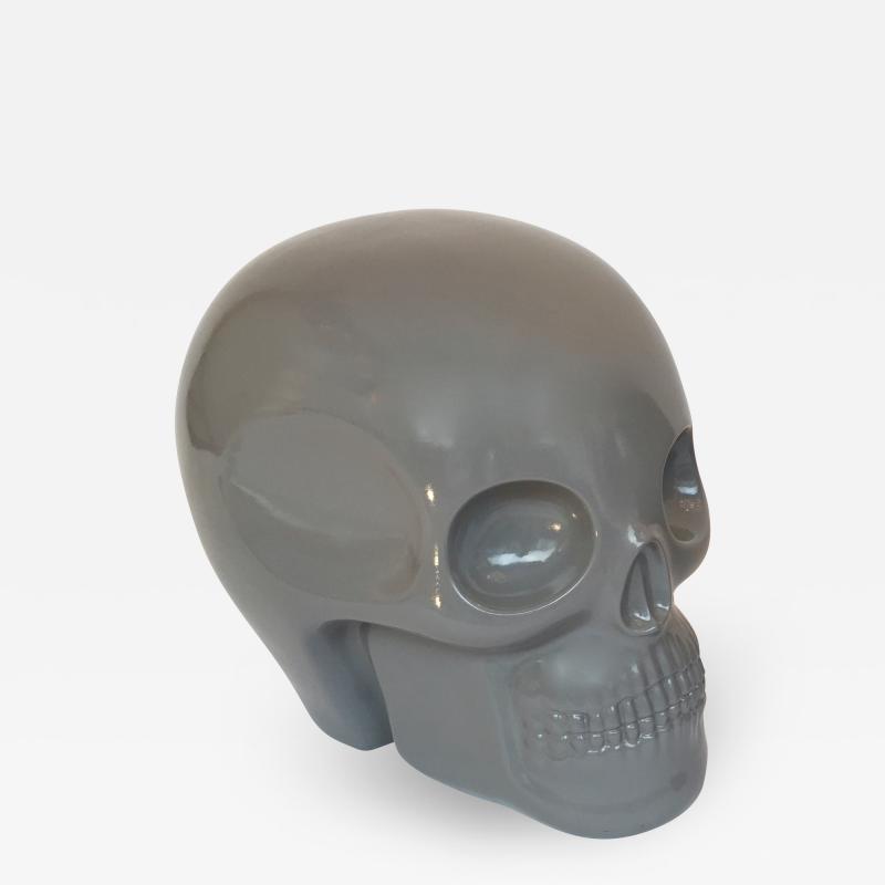 Antonio Cagianelli Contemporary Stool Skull in Grey Ceramic by Antonio Cagianelli