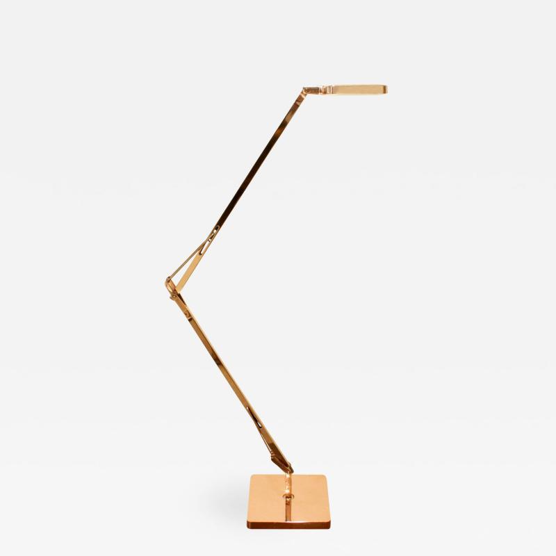Antonio Citterio Antonio Citterio Touch Sensitive Table Lamp in Rose Gold Finish 2015 signed