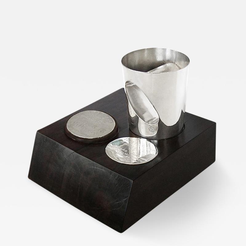 Antonio Pineda Unique Silver Ebony Trophy by Antonio Pineda 1968