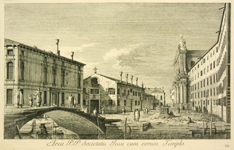 Antonio Visentini View of Venice Area P P Societatis Jesu cum eorum Templo Plate no IX