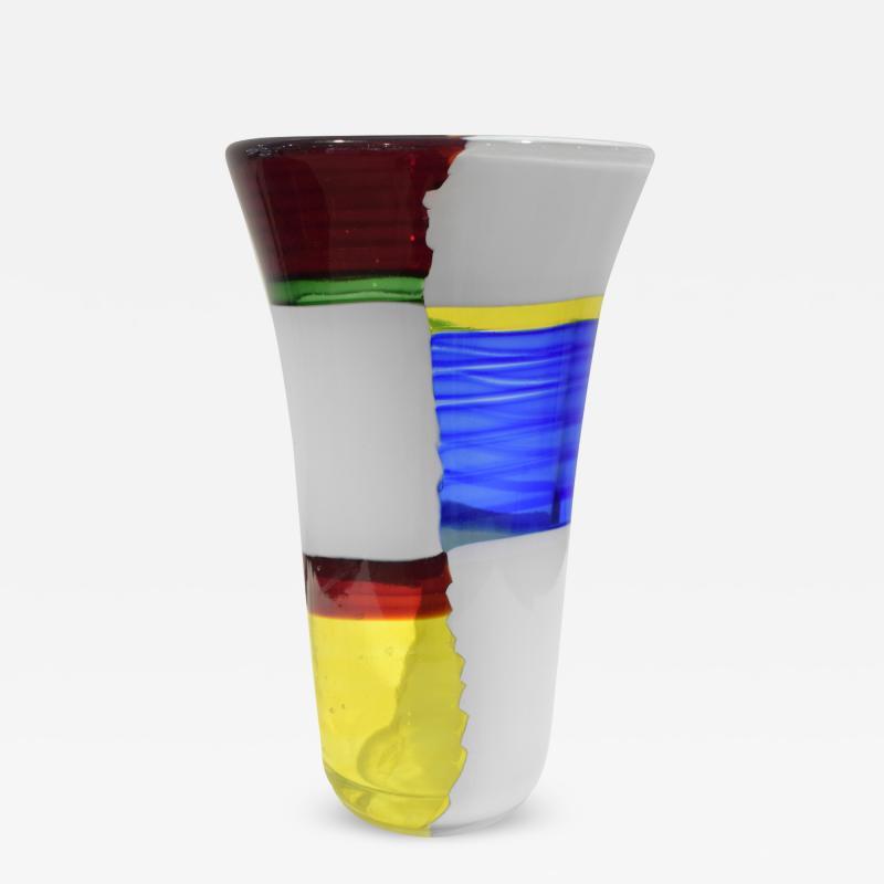 Anzolo Fuga Anzolo Fuga Rare Bandiere Vase 1955 6