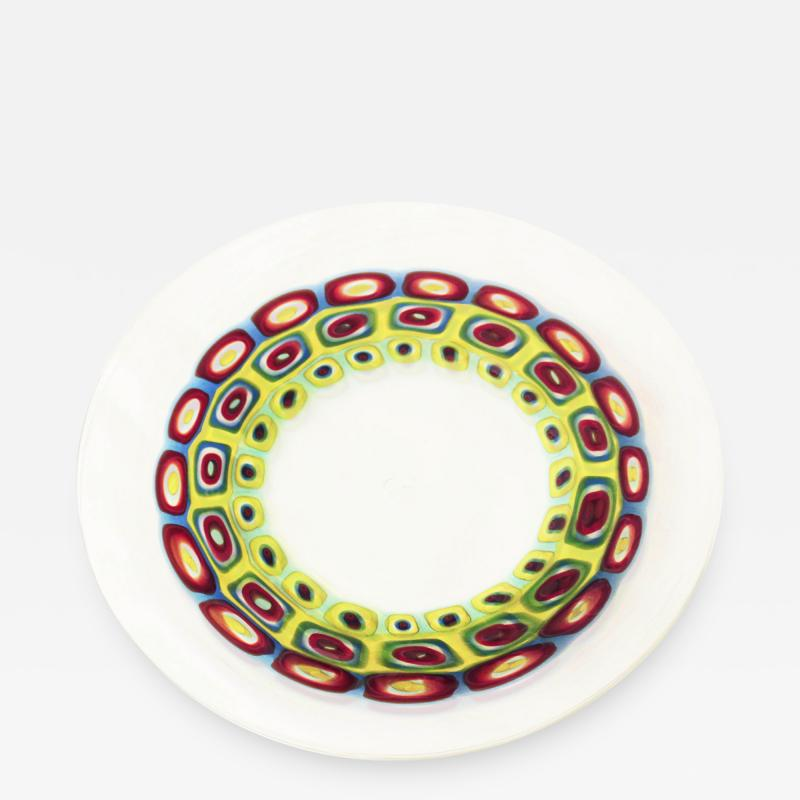 Anzolo Fuga Exceptional Large Hand Blown Glass Charger by Anzolo Fuga for A V E M