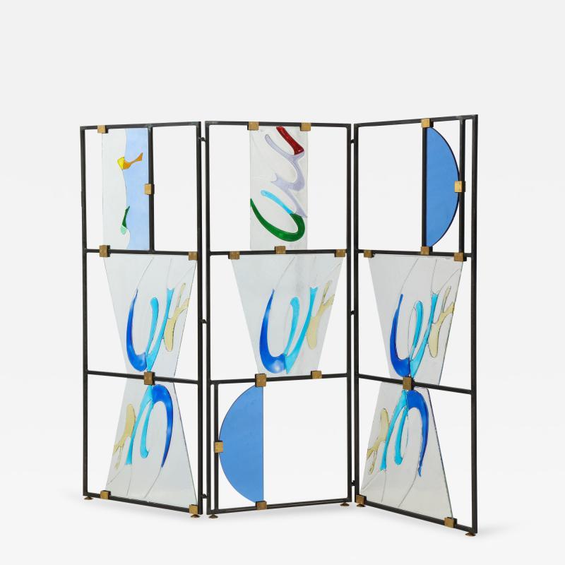 Arberto Toini Italian Murano glass screen by Alberto Toini