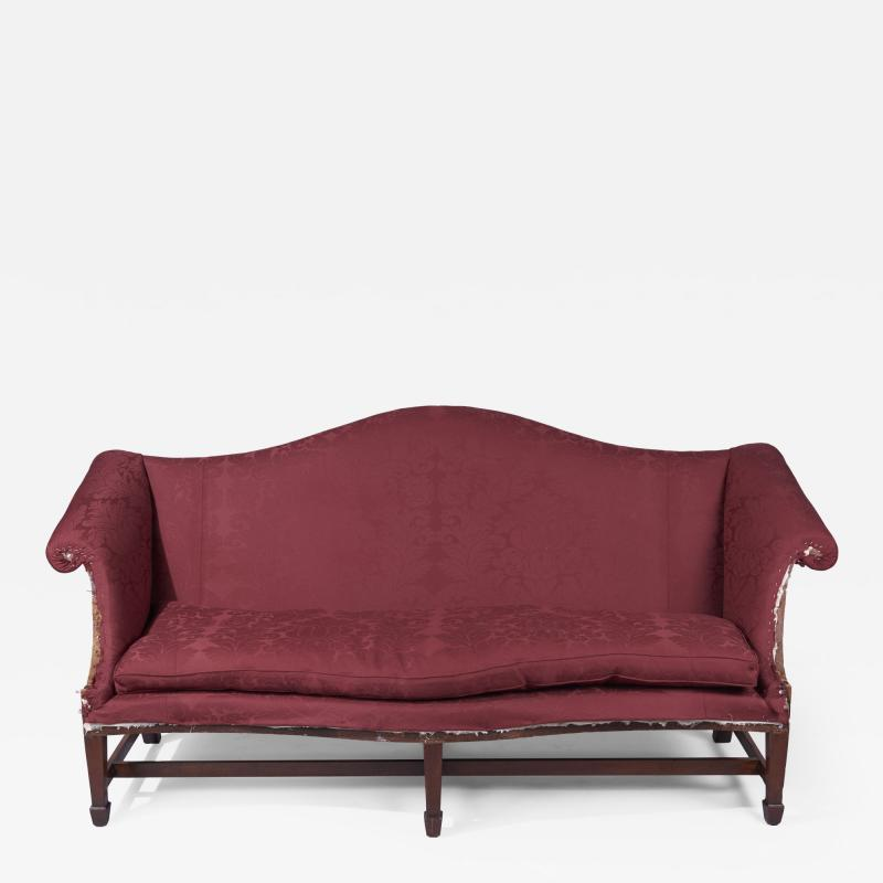 Arched Crest Serpentine Front Sofa New York or Philadelphia