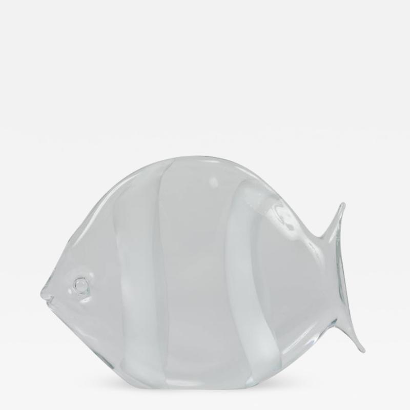 Archimede Seguso Murano Glass Fish Sculpture by Archimede Seguso
