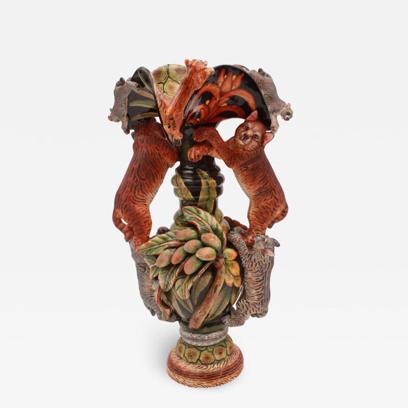 Ardmore Ceramic Art Bobcat Vase
