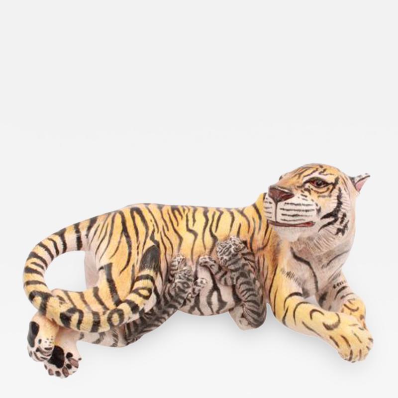 Ardmore Ceramic Art Tiger And Cub Sculpture