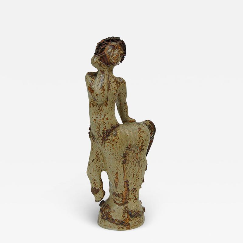 Arne Bang Arne Bang Stoneware Figurine in sung glaze 1928