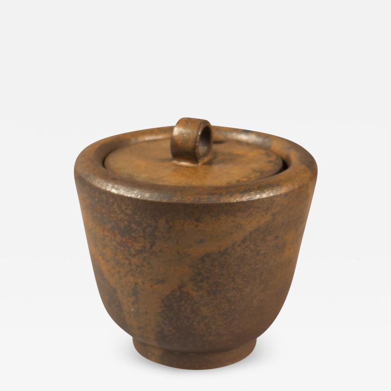 Arne Bang Lidded Stoneware Bowl by Arne Bang Denmark 1950s
