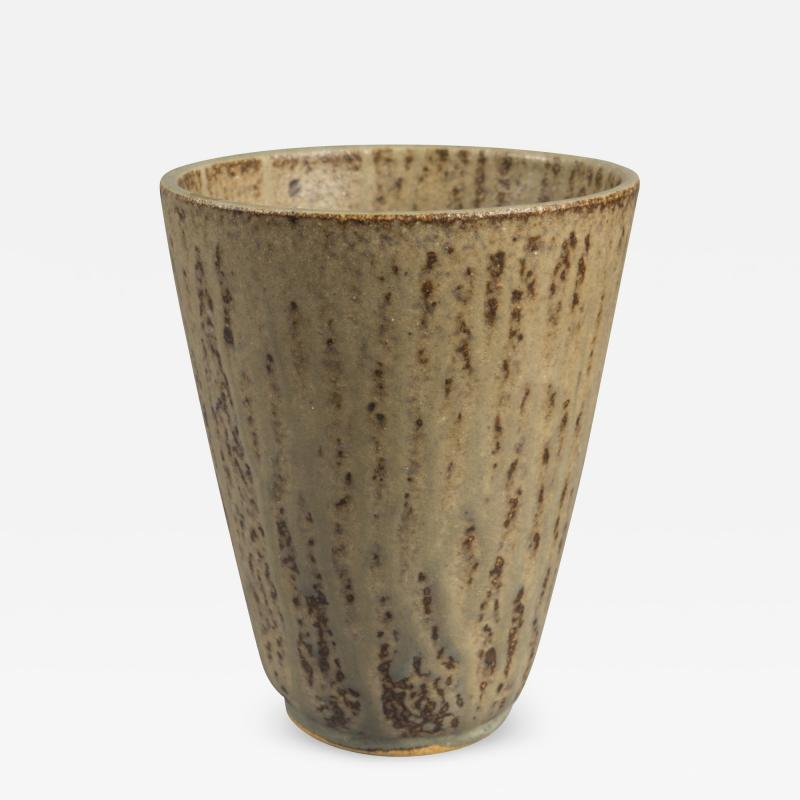 Arne Bang Stoneware Vase by Arne Bang Denmark 1950s